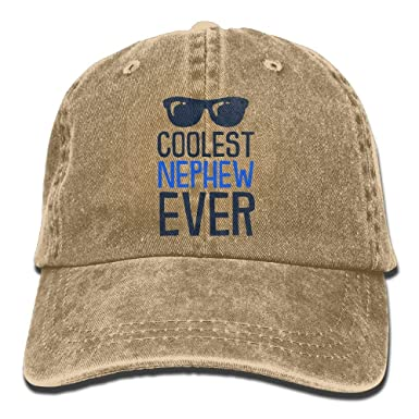 Unisex Baseball Cap Coolest Nephew Ever Washed Jean Cabbie Cap for Women 089aacdc74a