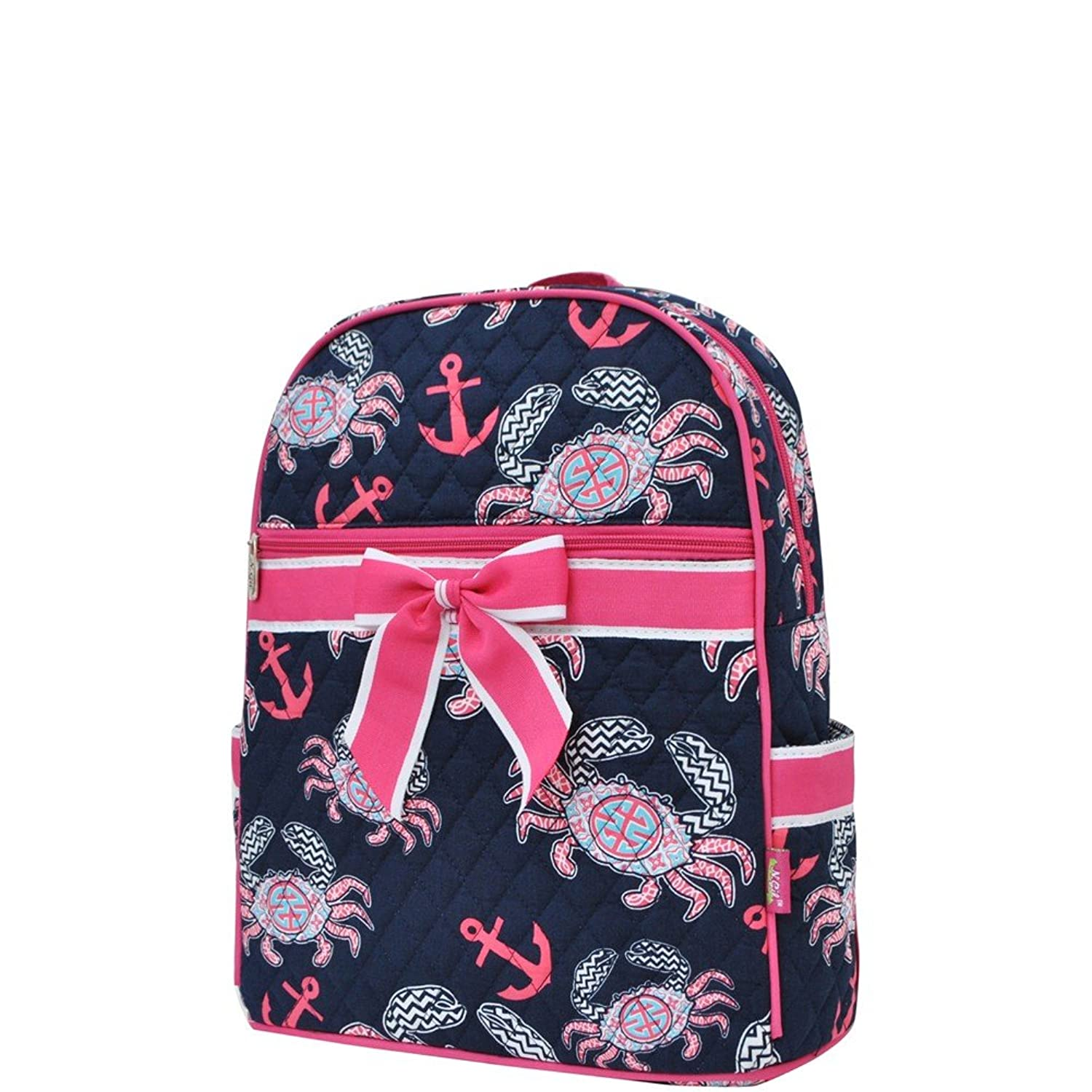 amazon com ocean sea crab print ngil quilted backpack casual