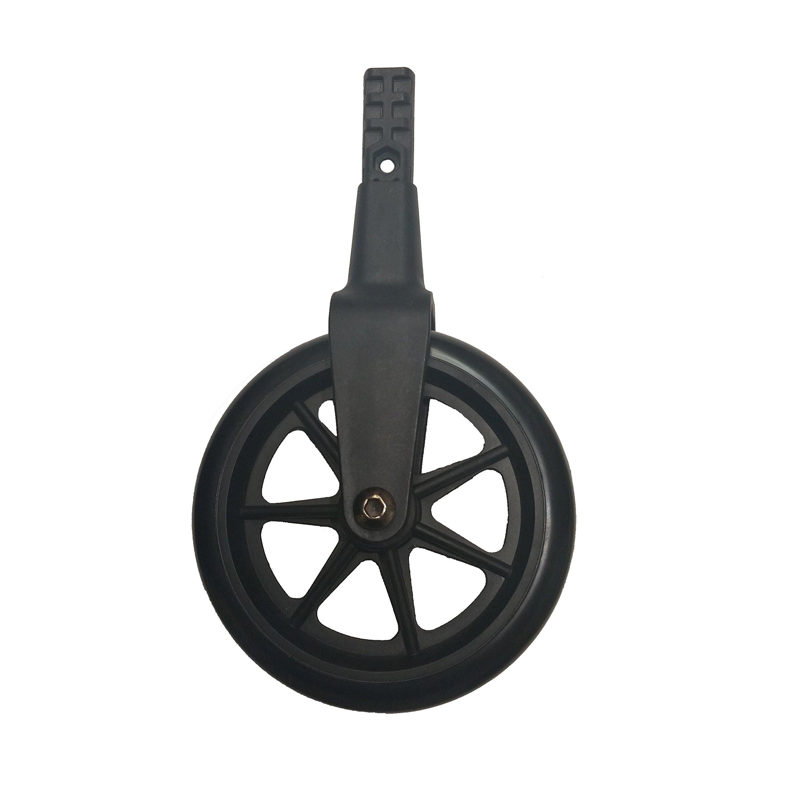Standers Non-Swivel Wheel Kit for Ez Fold N' Go Walker and Space Saver Walker, Black, 2 Count