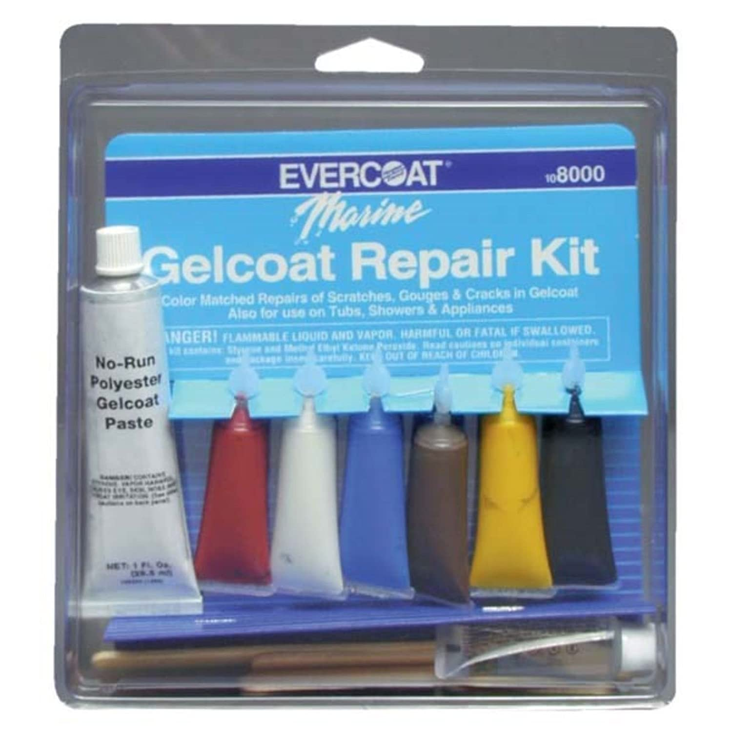 Amazon.com : US Fast Ship Evercoat 8000 Gelcoat Repair Kit Water ...