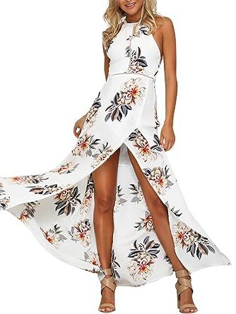the best attitude 5a60c c6230 Simplee Apparel Damen Chiffon Maxikleid Elegant Blumen ...