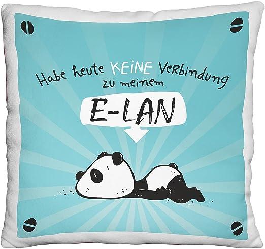 Sheepworld 45676 Kissen Plüschkissen 22 x 22 cm ELAN Panda