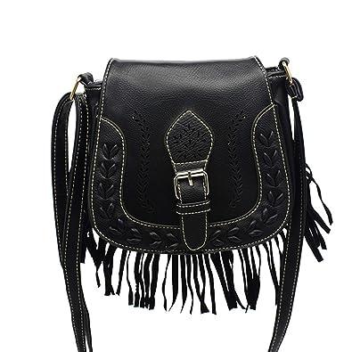 15afdd5994c NOTAG Small Crossbody Bags for Women Vintage Tassel Saddle Shoulder Bag  Sling Bag Shopping Travel Satchel