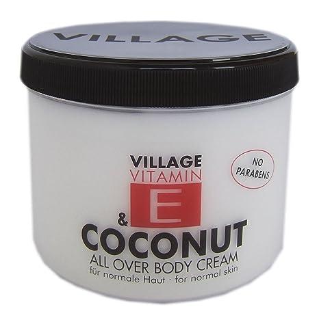 Village Crema Corporal con Vitamina E, Coco - 500 ml