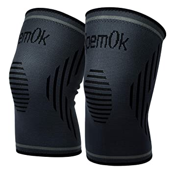 f4992c7617 SpemOk Knee Brace 1 Pair Compression Sleeves Pads for Running, Arthritis,  Pain Relief,