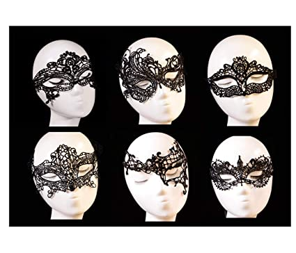 157c2295aa3d6 Image Unavailable. Image not available for. Color: Ru S Women's Black Lace  Mask Party Ball Masquerade Fancy ...