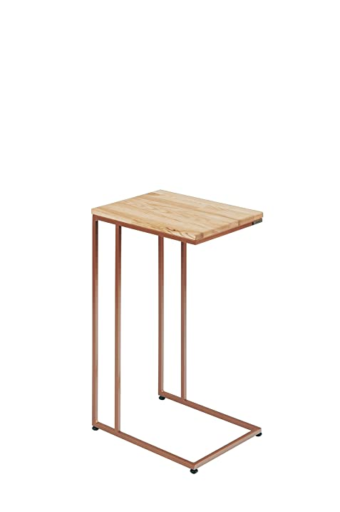 Lasomme C Shape Side Table With Wood Top (29u0026quot; Tall, ...