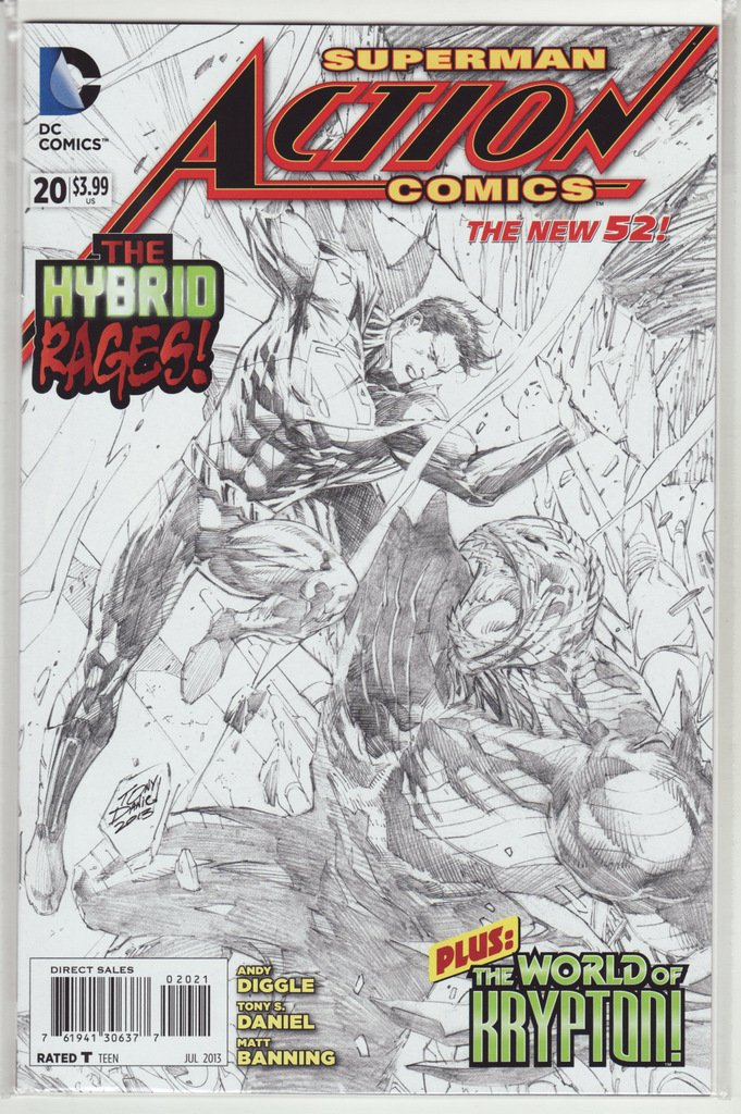 "Download Action Comics #20 ""Black & White Sketch Variant"" PDF"