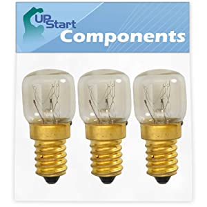 3-Pack 4173175 Light Bulb Replacement for Whirlpool & KitchenAid Ovens - Compatible with Whirlpool WP4173175 & Part Number AP6009180, 4173175, 3178521, 4452166 Light Bulbs