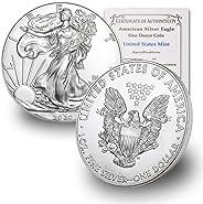 2020 1 oz Silver American Eagle BU In Coin Flip With CoinFolio COA $1 Brilliant Uncirculated