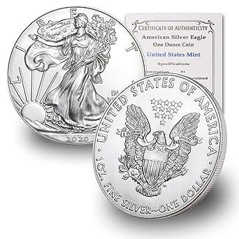 2020 Silver 1 oz American Eagle BU