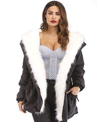 324277b8b4 Aofur Womens Ladies Long Winter Casual Fleece Warm Coat Jacket Girls School Coats  Trench Parka Hoodies 8-20: Amazon.co.uk: Clothing