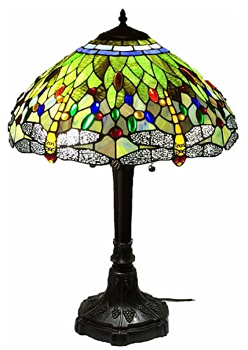 Tiffany Style Stained Glass Table Lamp Vivid Dragonfly Amazon Com