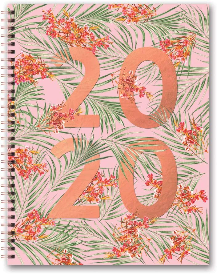 Orange Circle Studio 2020 Extra Large Spiral Planner, Floral Expressions, 2020-2021 (20602)