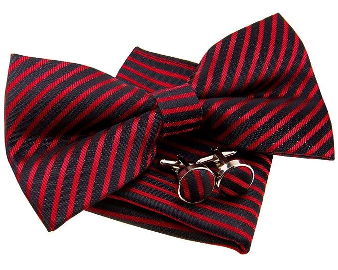 """10e8da44c52d Retreez Modern Stripe Woven Microfiber Pre-tied Bow Tie (Width: 5"""")"""