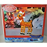 Amazon Price History for:ProductWorks 32-Inch Pre-Lit 3D Rudolph with Santa Hat and Scarf Christmas Yard Decoration, 120 Lights