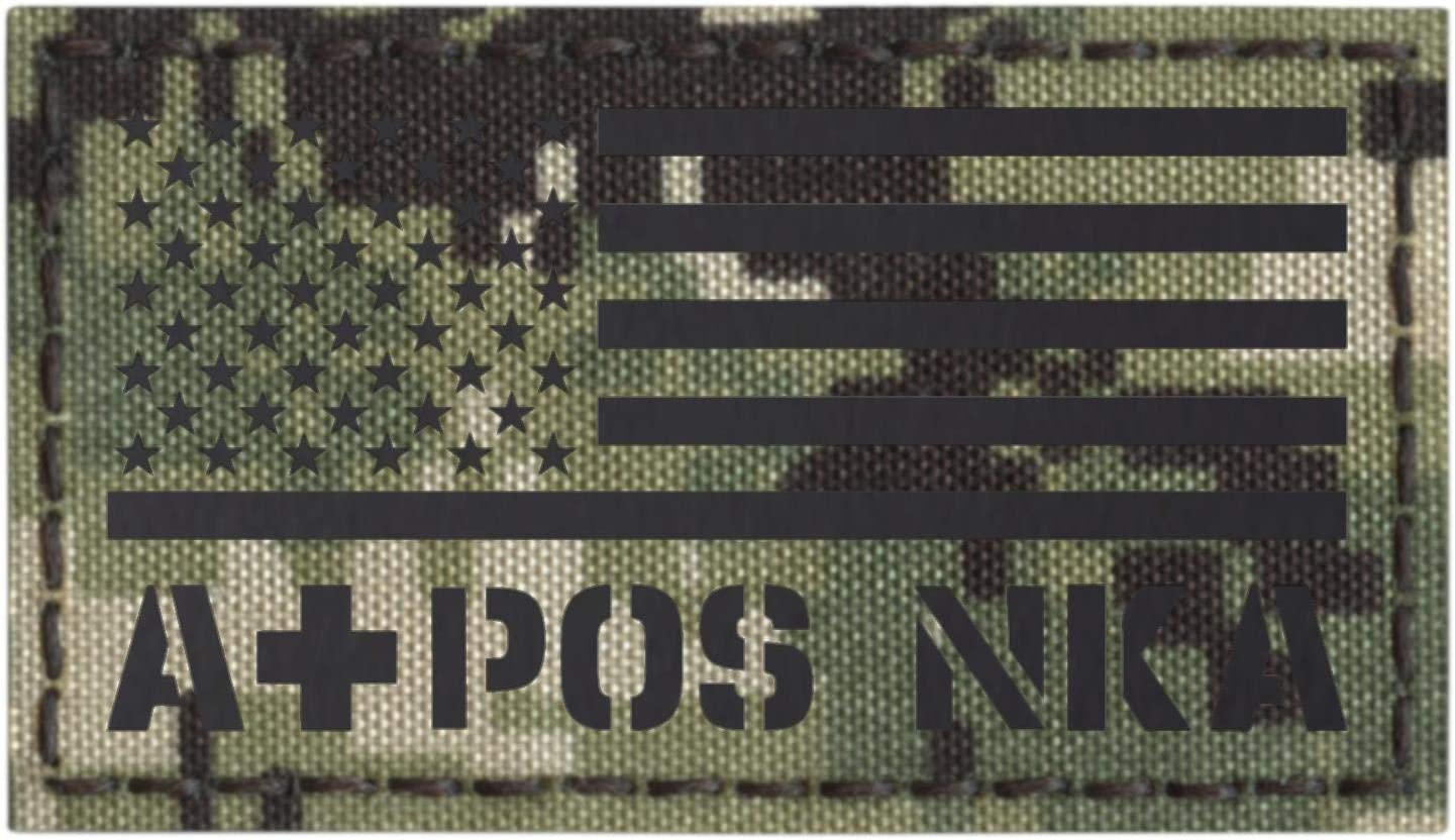 NWU Type III Blood Type 2x2 Tactical Morale Hook/&Loop Patch IR AOR2 APOS NKDA A