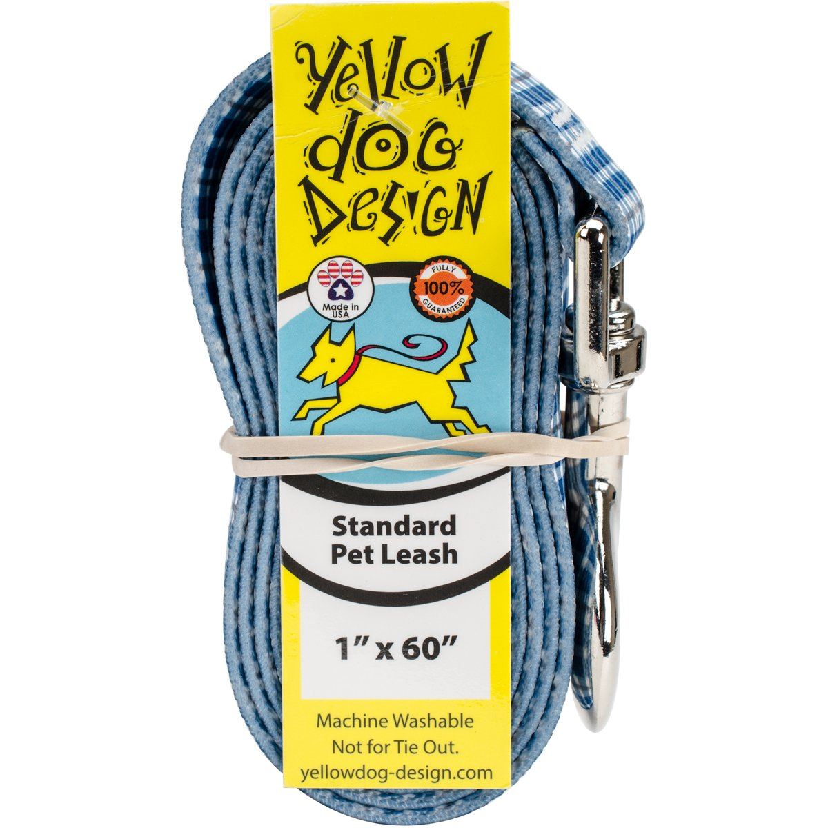 Yellow Dog Design Preppy Boy Plaid Dog Leash-Size Large-1 Inch Wide and 5 feet (60 inches) Long by Yellow Dog Design