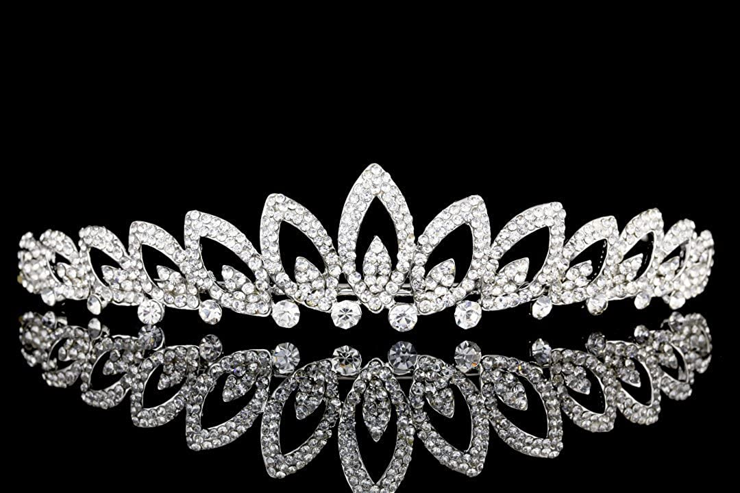 Venus Bijoux Femme mariée Strass Cristal Prom Tiare de mariage Couronne Venus Jewelry SAMKY-T980