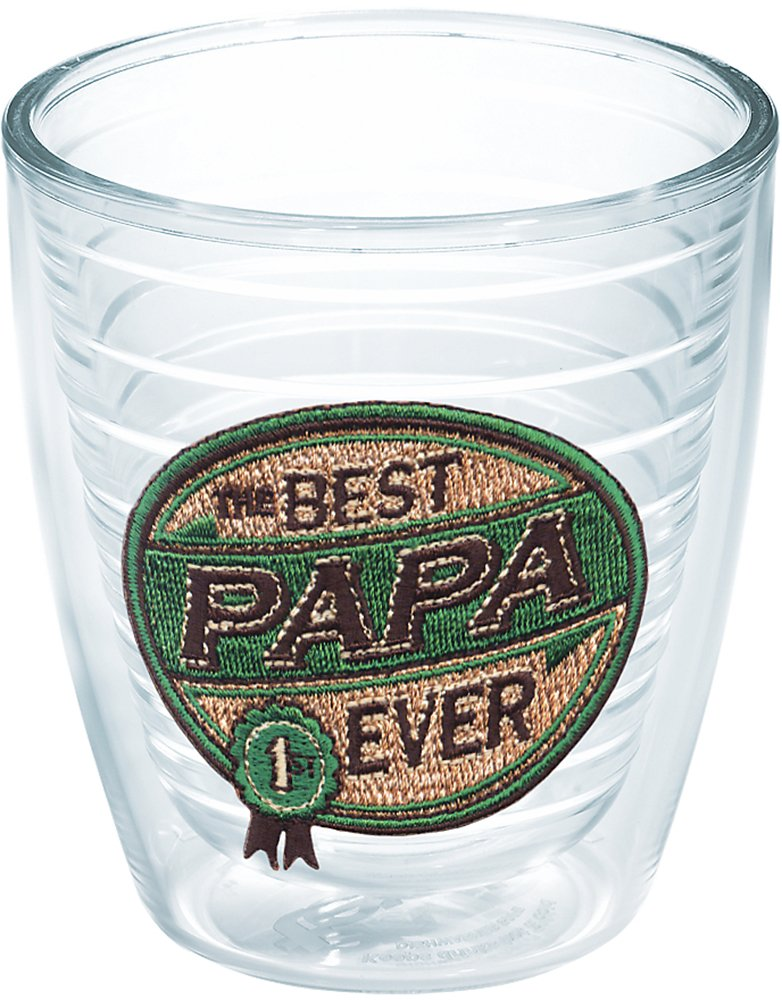 16 oz Clear 4 Pack Papa Insulated Tumbler With Emblem Tervis 1046211 Hallmark