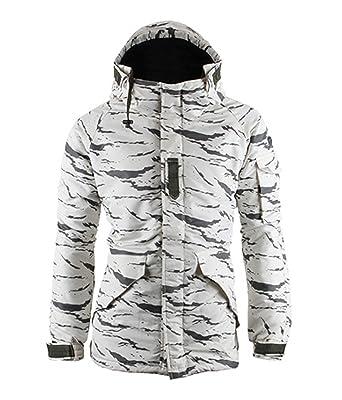 South play Chaqueta y pantalón de esquí-Snowboard de diseño Militar Impermeable para Hombre-