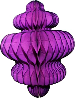 product image for 3-Pack 10 Inch Honeycomb Tissue Paper Hanging Chandelier Decoration (Purple)