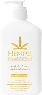 product image for Hempz Milk & Honey Herbal Body Moisturizer with Jojoba Seed, Cocoa Butter, 17 oz. - Fragranced, Everyday Body Lotion with Agave Extract to Hydrate Sensitive Skin - Premium Skin Care Products