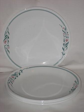Set Of 6 - Corning Corelle Glass RoseMarie Tulip Pattern 10 Inch Dinner Plates & Amazon.com | Set Of 6 - Corning Corelle Glass RoseMarie Tulip ...