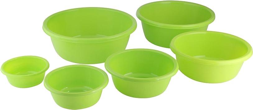 Kunststoffschüssel Set rund 6-teilig Schale Salatschüssel Rührschüssel