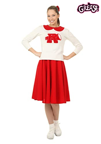 1950s Costumes- Poodle Skirts, Grease, Monroe, Pin Up, I Love Lucy Grease Rydell High Cheerleader Costume $65.99 AT vintagedancer.com