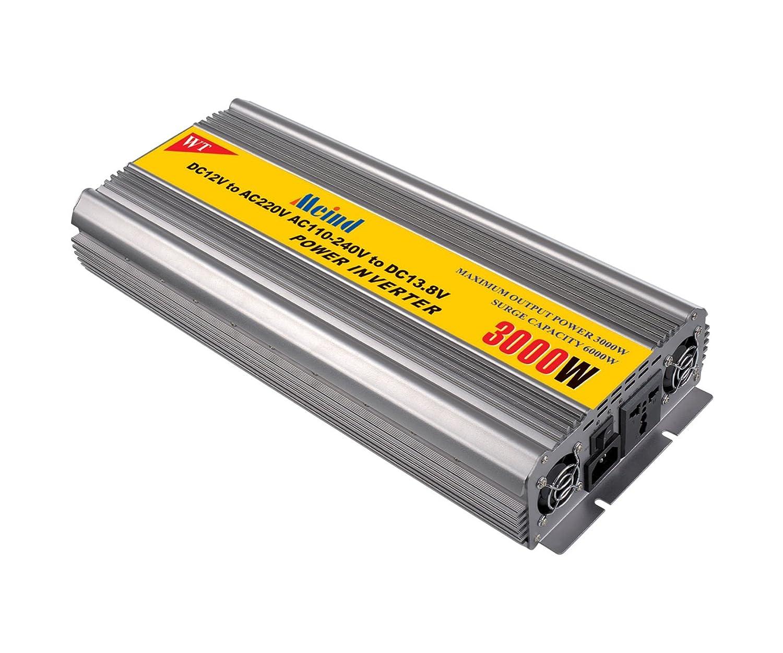 Utroligt Amazon.com: Power inverter 3000W peak 6000 Watt DC 12V to AC 220 GS44