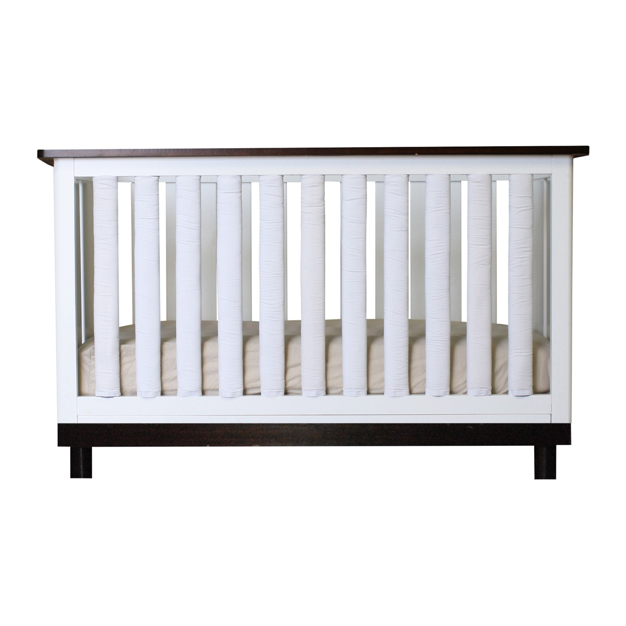 Pure Safety Vertical Crib Liners in True White Cotton 38 Pack by Go Mama Go