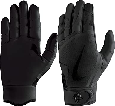 4170fabaa031 NIKE Youth Huarache Edge Batting Gloves 2018 (Black Black Black