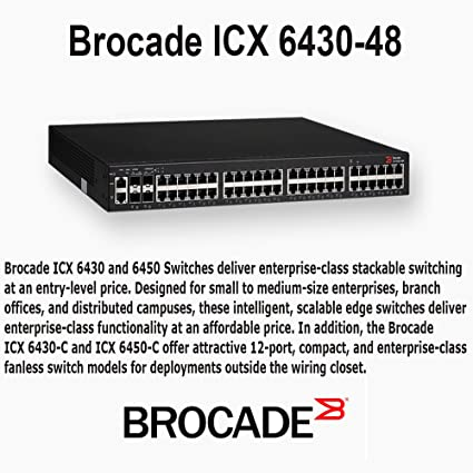 Amazon com: Brocade ICX 6430-48 - Switch - 48 Ports