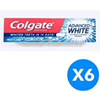Colgate Advanced White Toothpaste - With Micro Cleansing Crystals - 100ml x 6