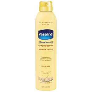 Vaseline Intensive Care Spray Moisturizer, Essential Healing 6.5 oz (Pack of 6)