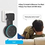 Chasehill Wall Mount Hanger Holder Stand for Amazon Echo Dot 3rd Generation, Built-in Cable Management without Mess Wires and Screws, Space-Saving Solution in Kitchen Bathroom