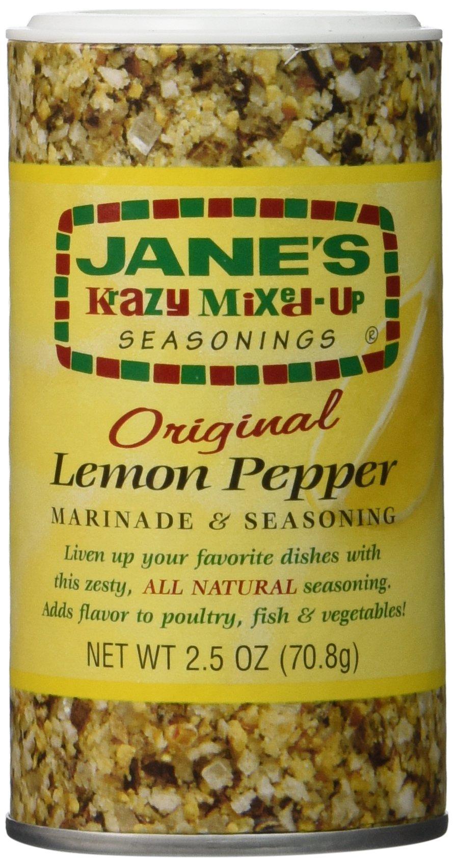 Jane's Krazy Lemon Pepper Marinade & Seasoning - 2.5 oz