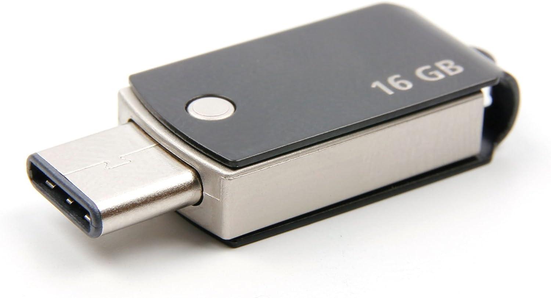 DURAGADGET 16GB USB Type-C Flash Drive for Essential Phone Black