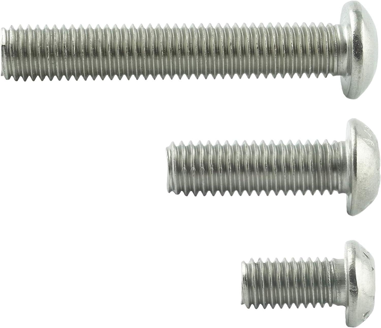 AGBERG Linsenkopf-Schrauben mit Innensechsrund TX Edelstahl VA A2 V2A ISO 7380 Edelstahlschrauben mit Flachkopf rostfrei 5 St/ück M3x3 mm
