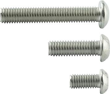 M5 x 20 mm Linsenkopfschrauben mit Innensechsrund TX - ISO 7380 Linsenkopf Schrauben mit Flachkopf rostfrei Edelstahl A2 V2A Gewindeschrauben Eisenwaren2000 10 St/ück