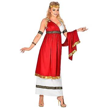 WIDMANN 09104 Disfraz de emperatriz romana, para mujer, rojo ...