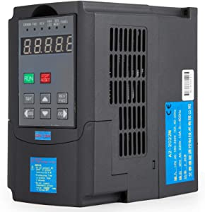 Mophorn 1.5KW VFD Variable Frequency Drive Inverter for Spindle Motor Speed Control 2HP 7A 220-250V (220V/1.5KW VFD)