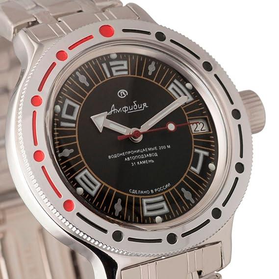 Vostok Militar ruso de anfibios Divers Reloj 420394 200 M mecánico automático auto: Amazon.es: Relojes