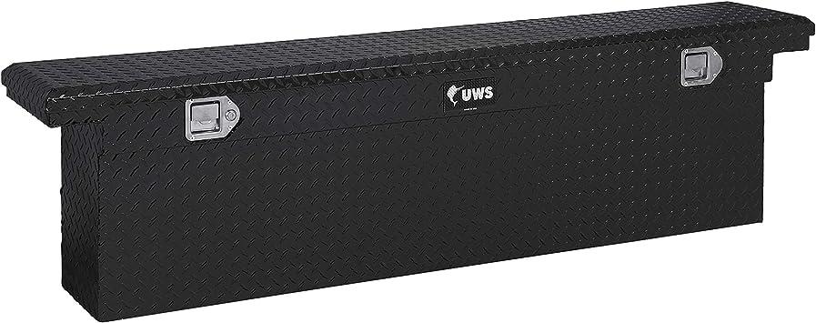 UWS EC10552 69-Inch Gloss Black Aluminum Slim Truck Tool Box with Low Profile