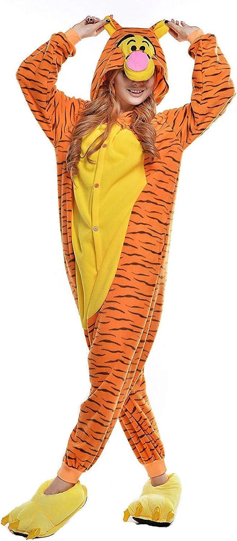 Unisex Adulto Pijamas Cosplay Disfraces Halloween Animal Pijamas Invierno Mono