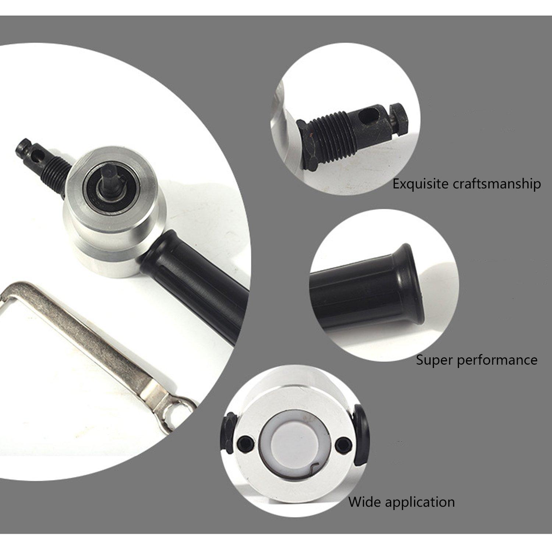 Double Tete Fiche Grignoteuse Metal Grignoteuse Outil de Coupe-Feuille Scie Accessoire de Forage Grignoteuse