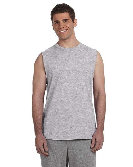 d33b758a7e24 Amazon.com: Gildan - Ultra Cotton Sleeveless T-Shirt. 2700 - Sport Grey_XL:  Clothing