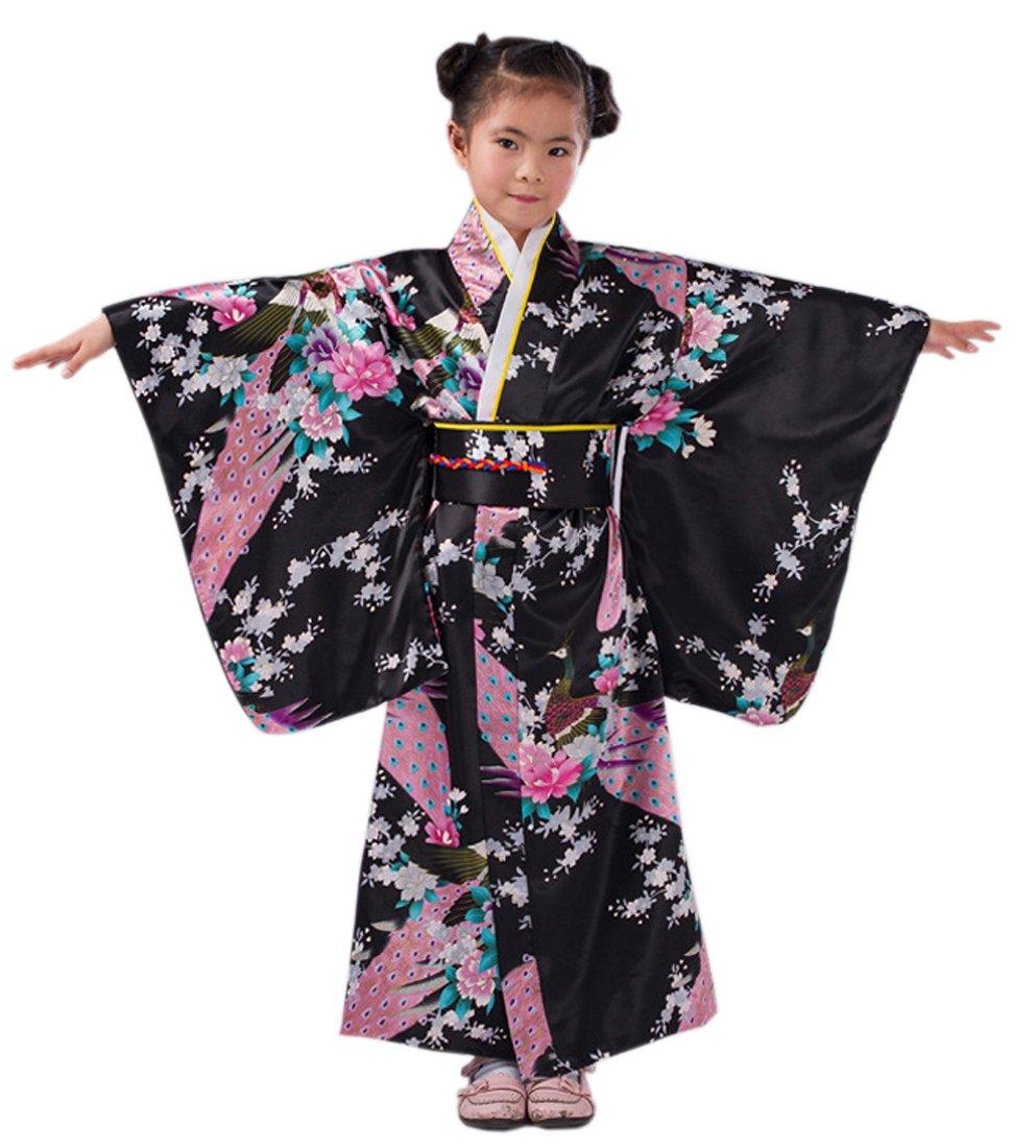 YueLian Bimba Kimono Stampato Pavone, 5 Colori