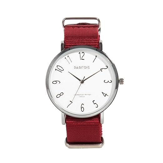Parfois - Reloj Basic - Mujeres - Tallas Única - Rojo: Amazon.es: Relojes